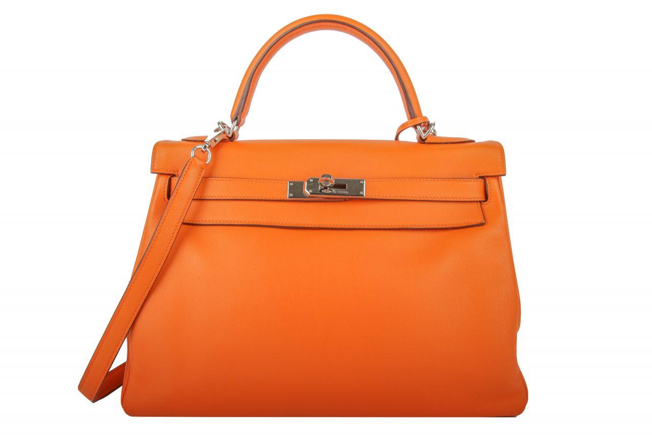 Hermès Kelly 32 Orange Veau Swift