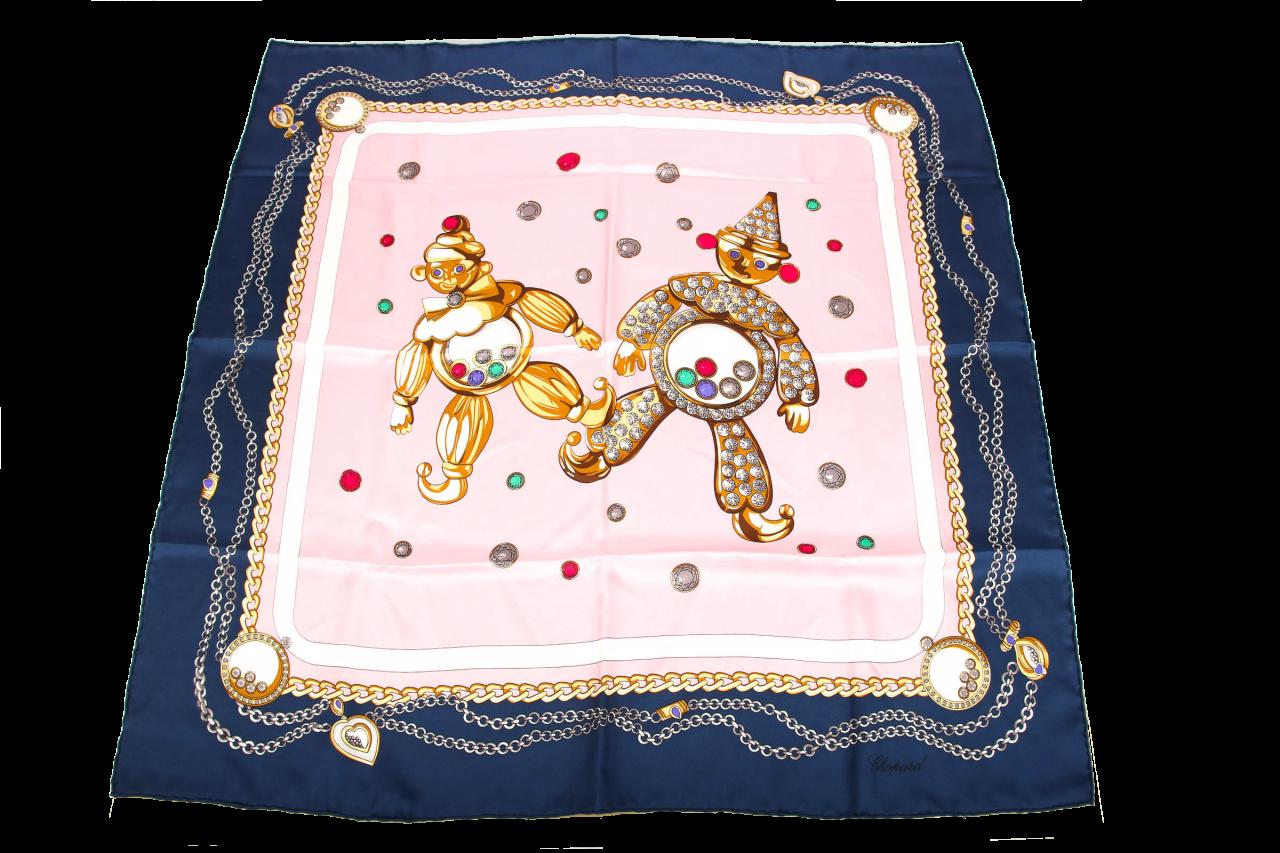 Chopard Seidentuch Blau/Rosa
