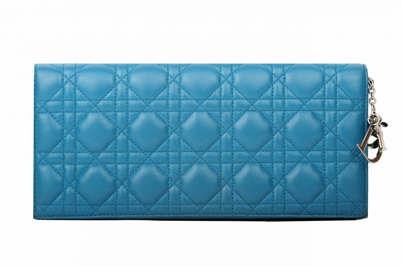 Dior Lady Dior Clutch Blau