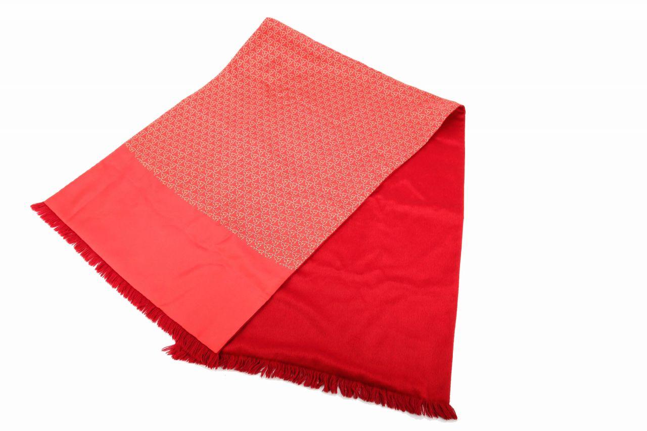 Hermès Silk/Angora Scarf Red