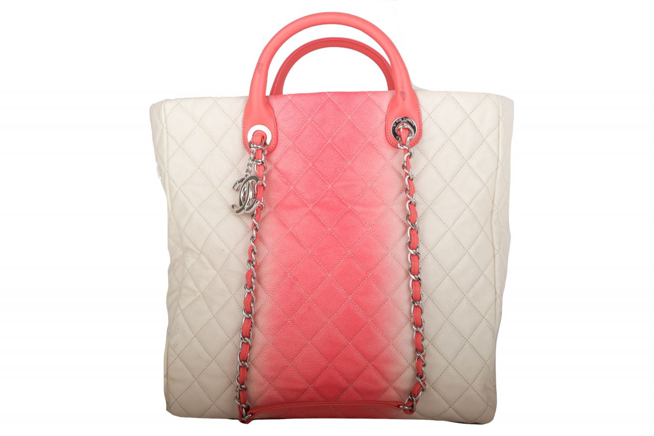Chanel Shopper Large Coral Color Gradient