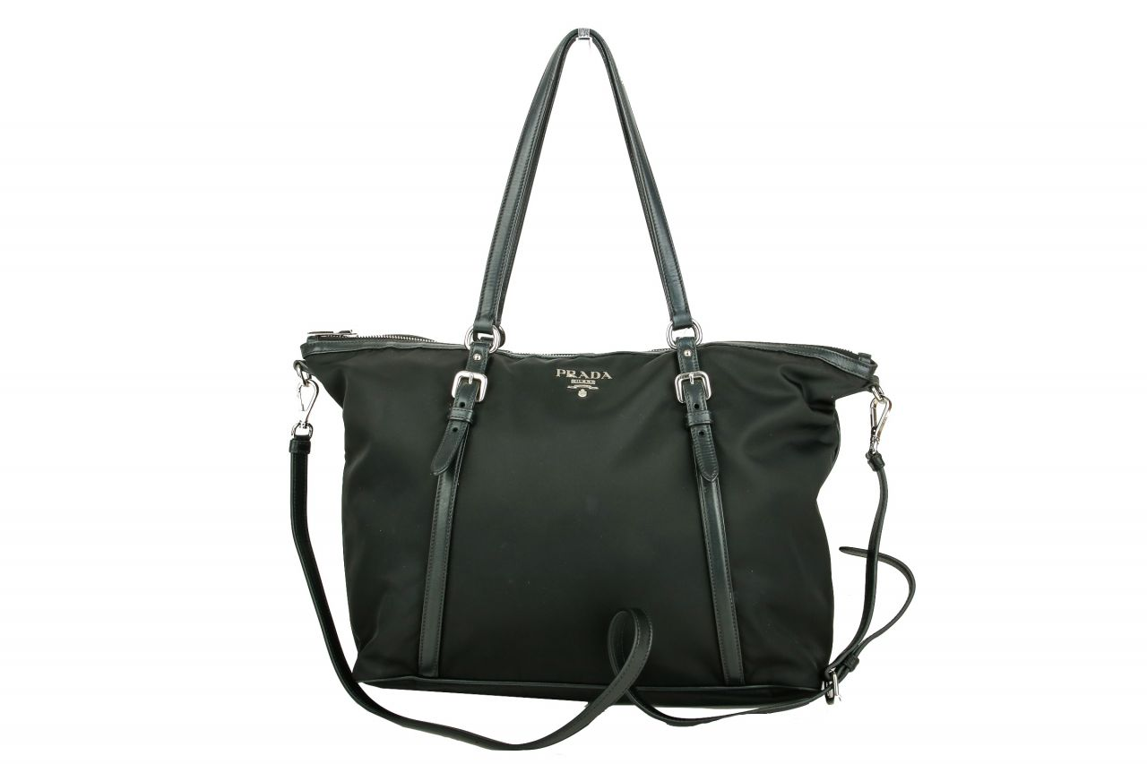 Prada Nylon Shopper Black