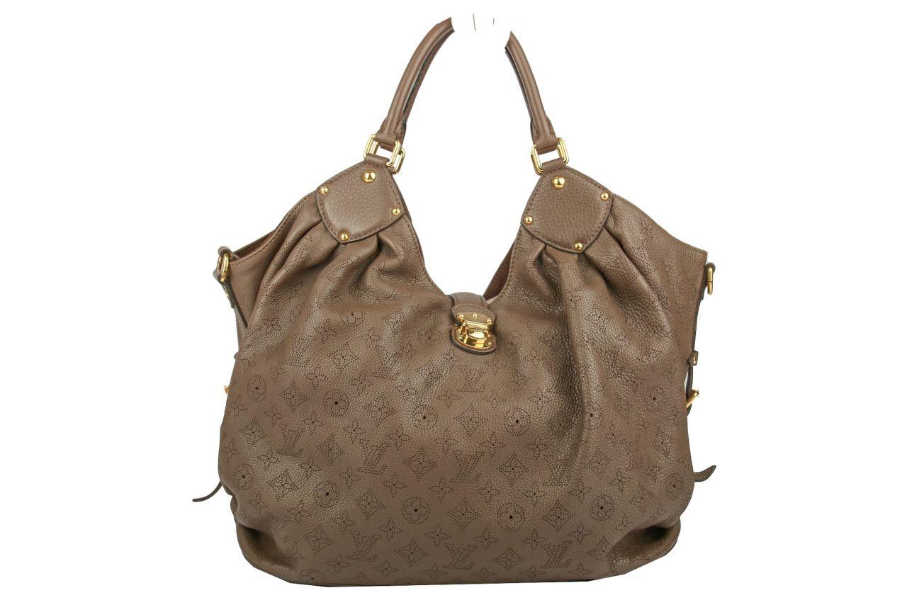 Louis Vuitton Chocolat Monogram Mahina Leather