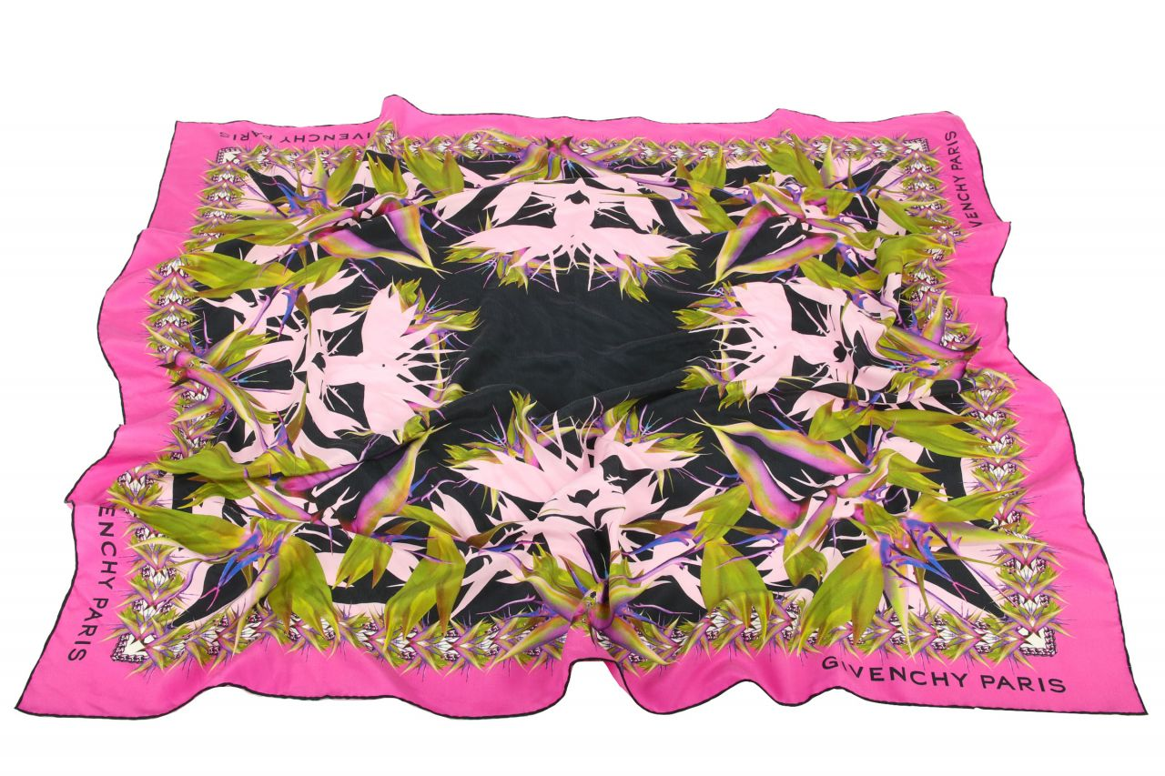 Givenchy Silk Scarf Green Pink