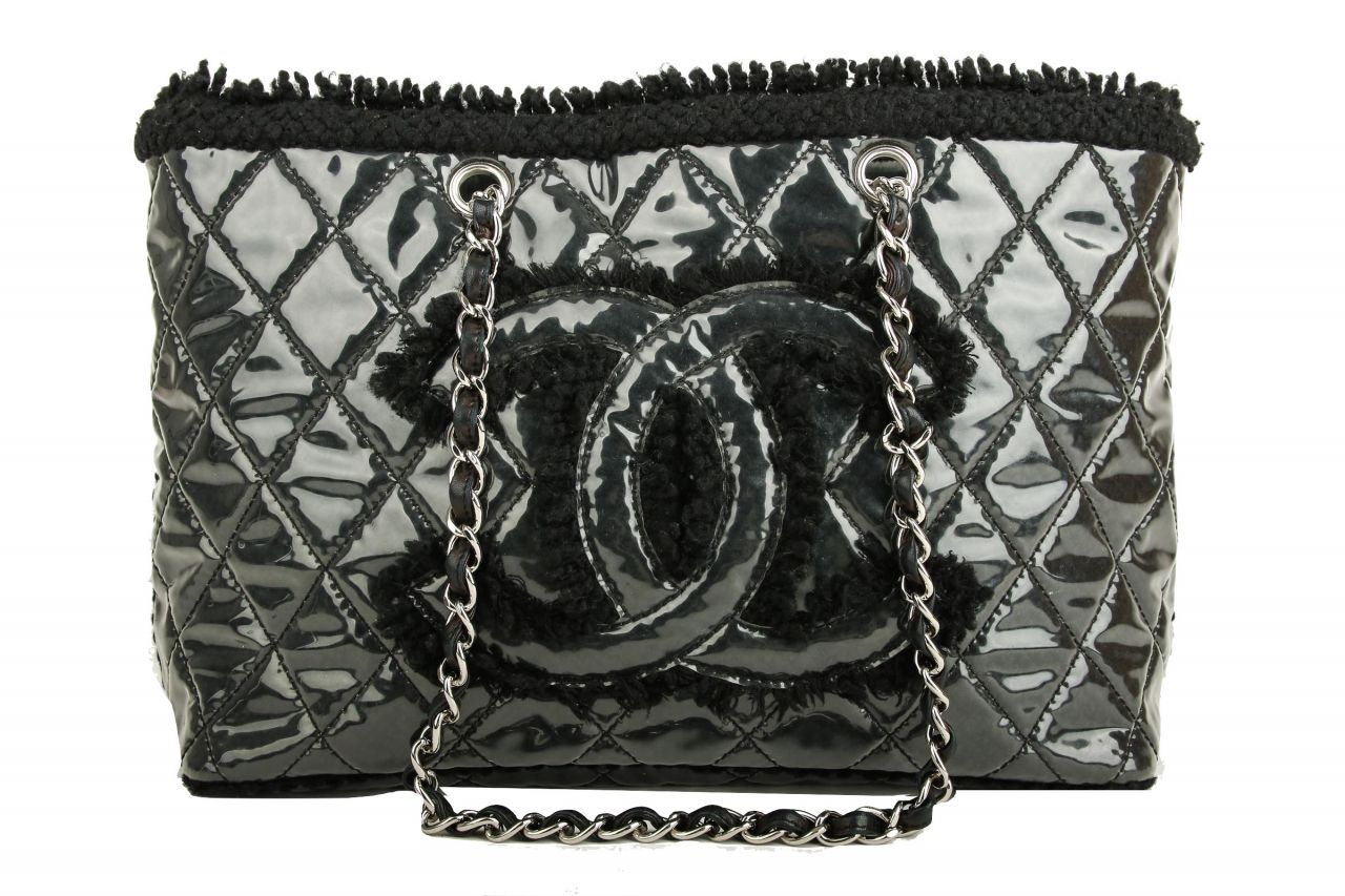 Chanel Shopper Schwarz Tweed