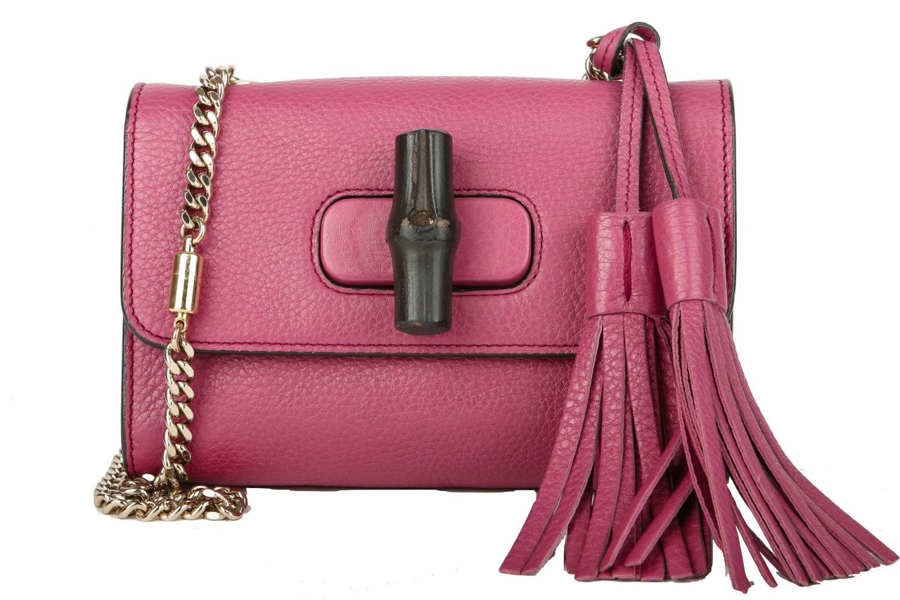 Gucci Mini Bamboo Chain Strap Bag Pink