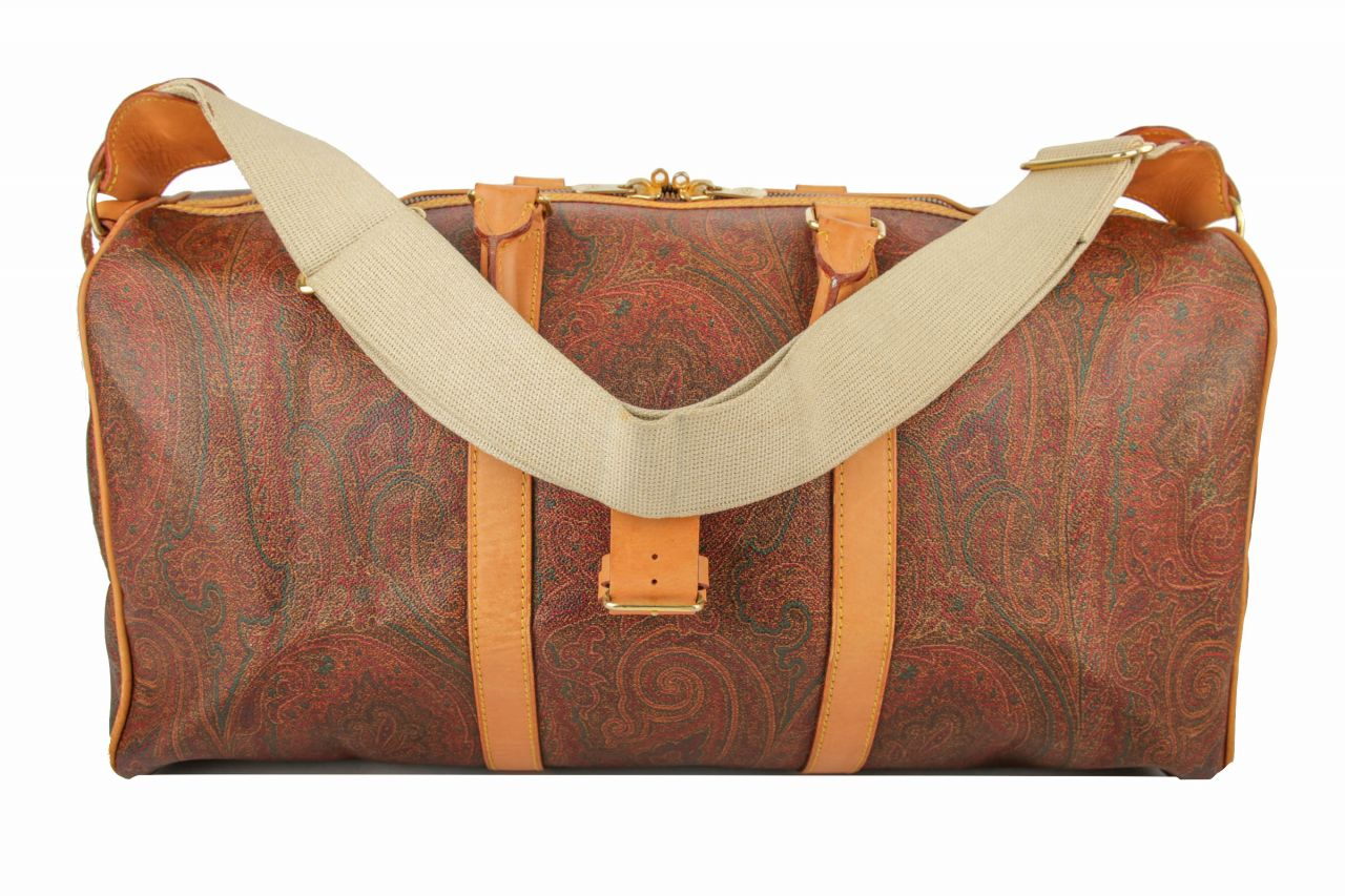 Etro Boston Bag 50 Paisley Braun