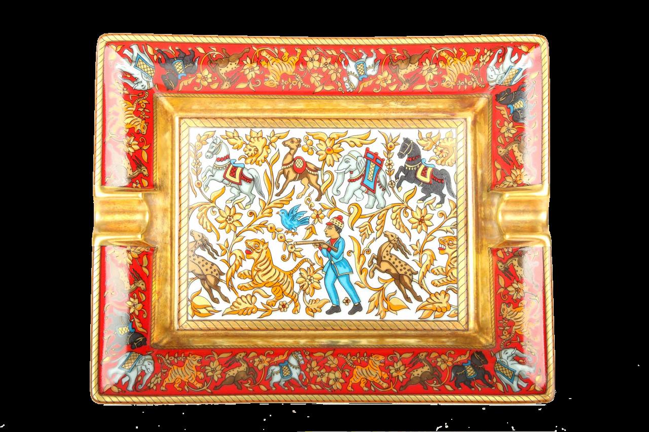 Hermès Porzellan Aschenbecher - Jagd Motiv
