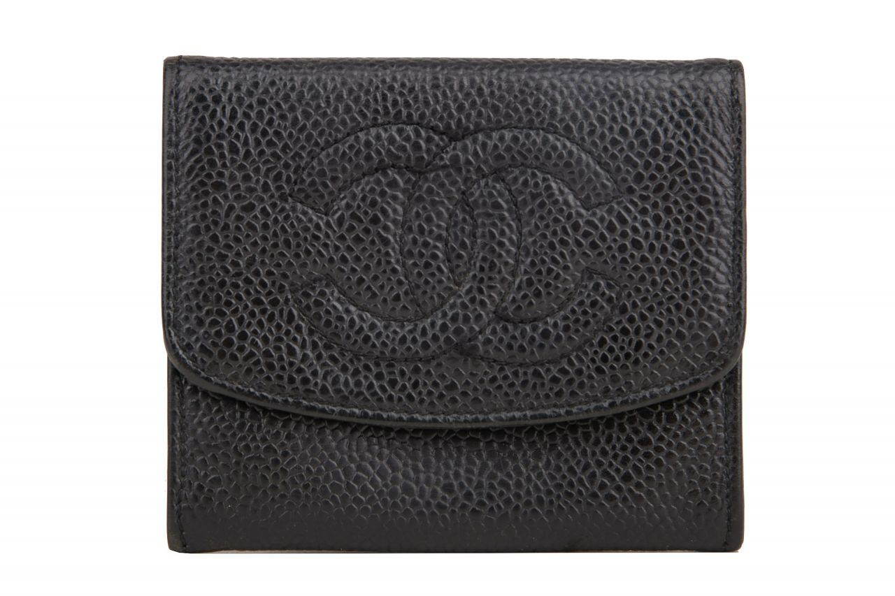 Chanel Coins Purse Kaviar Leather Black