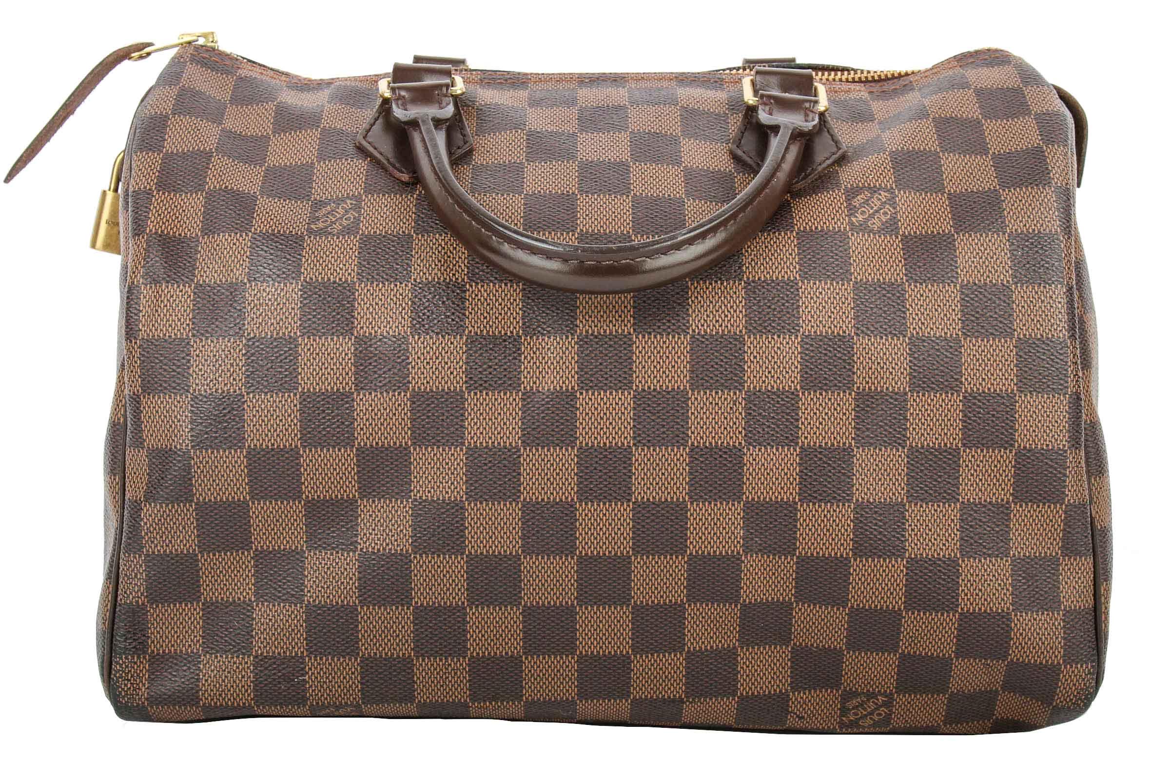c902714558bd3 Louis Vuitton Speedy 30 Damier Ebene Initialisiert