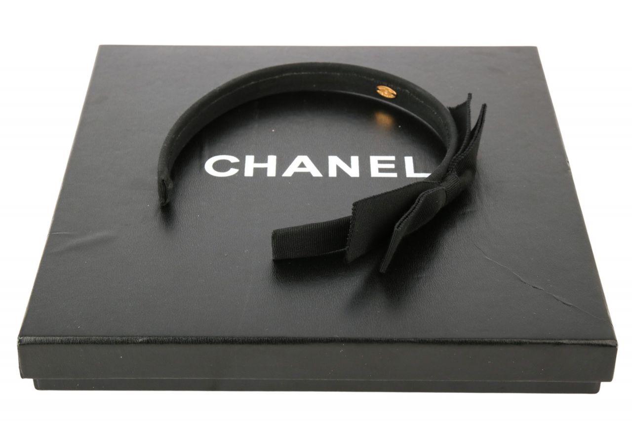 Chanel Haarreif mit Schleife Schwarz