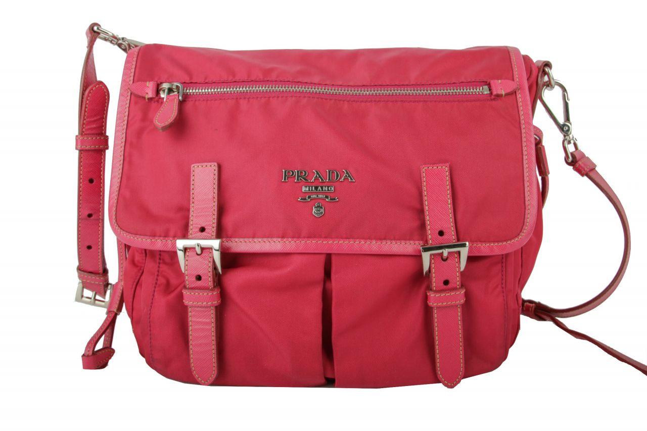 Prada Crossbody Bag Nylon Pink