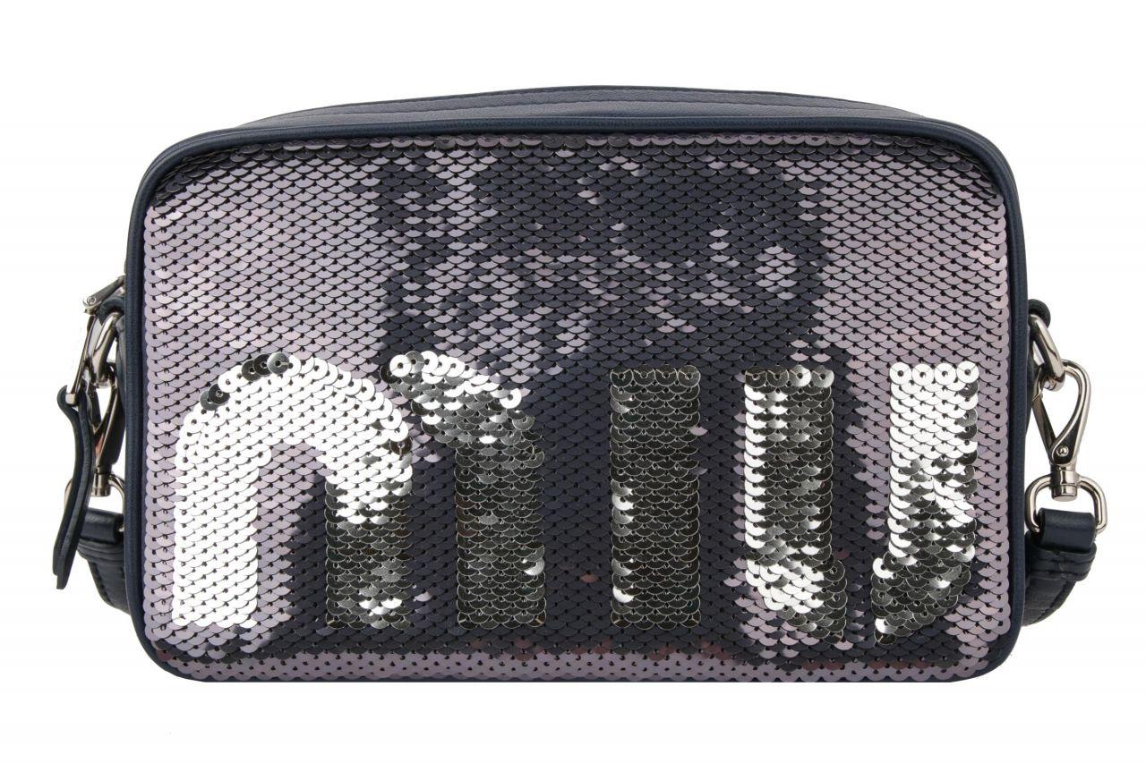 Miu Miu Bandoliera Bag aus Pailletten in Dunkelblau/ Silber