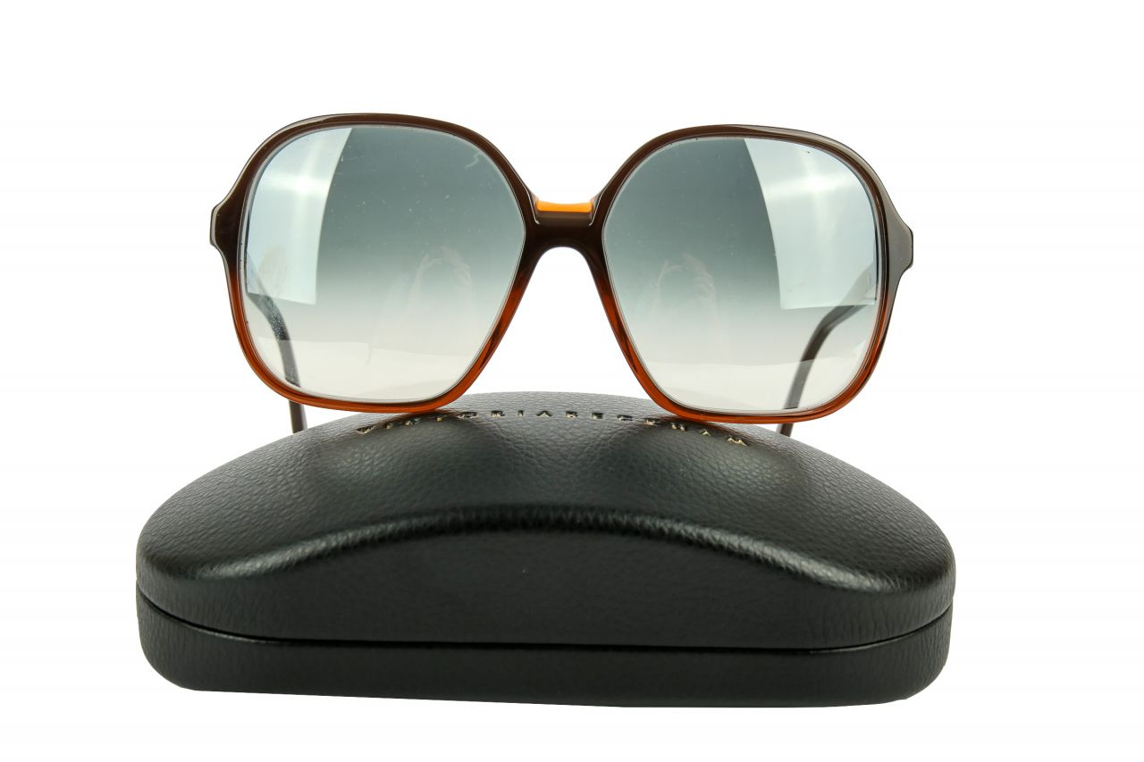 "Victoria Beckham ""Jackie O"" Sunglasses Brown"