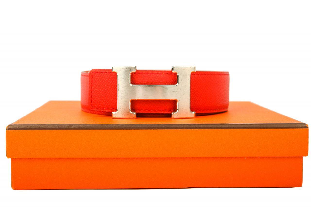 Hermès Gürtel Rot / Orange