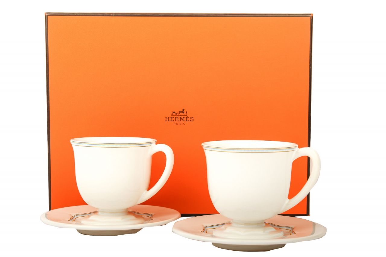"""Hermès """"Comme Hiver"""" Tea Coffee Cup and Saucer"""