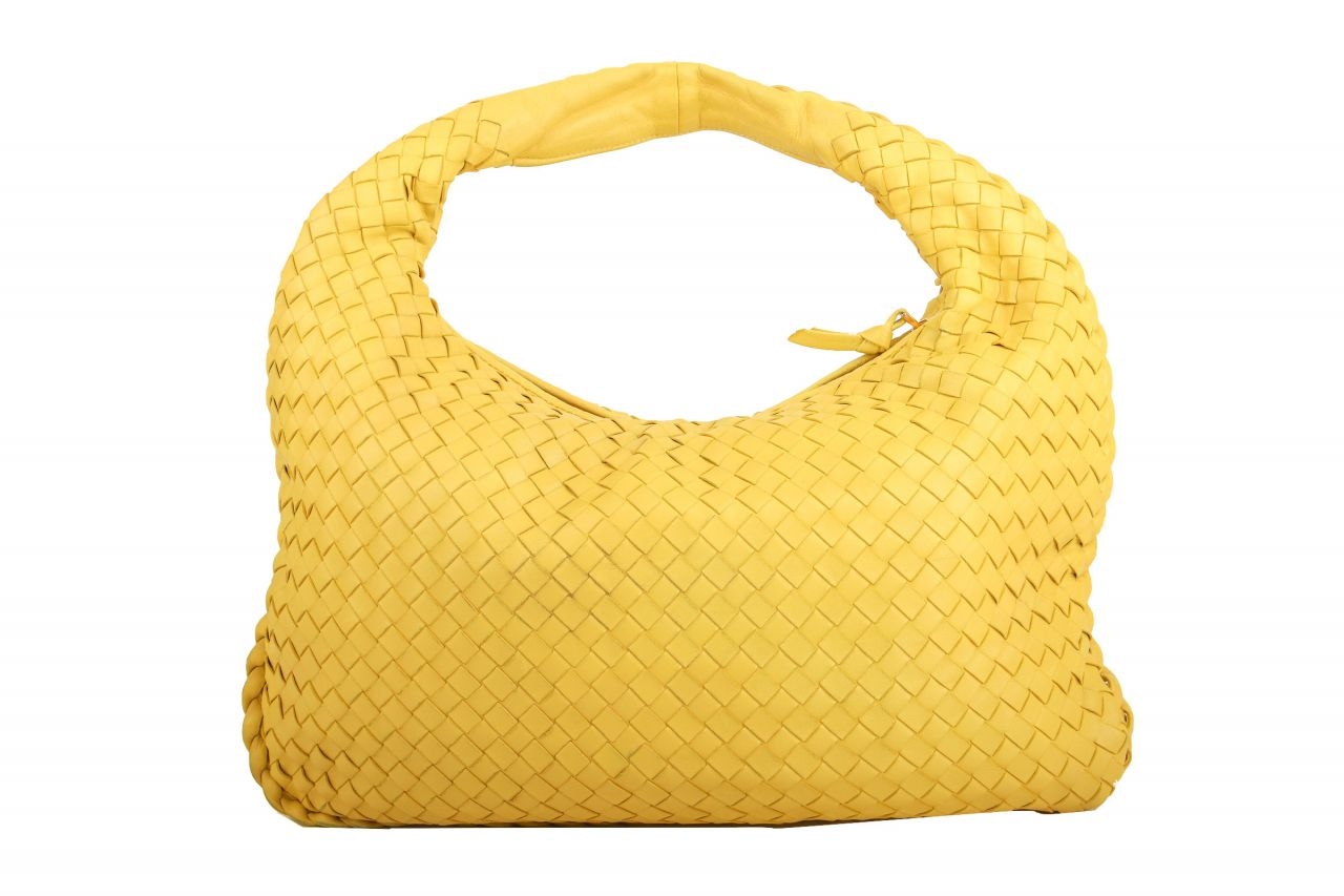 Bottega Veneta Hobo Bag Nappaleder Intrecciato Small Gelb