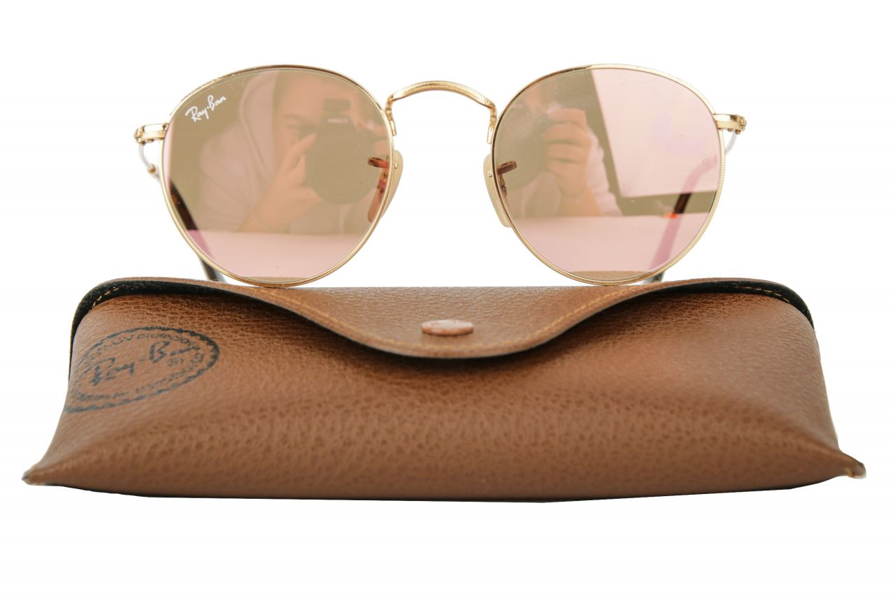 Ray-Ban Sonnenbrille Round RB3447-N Gold/Rosa