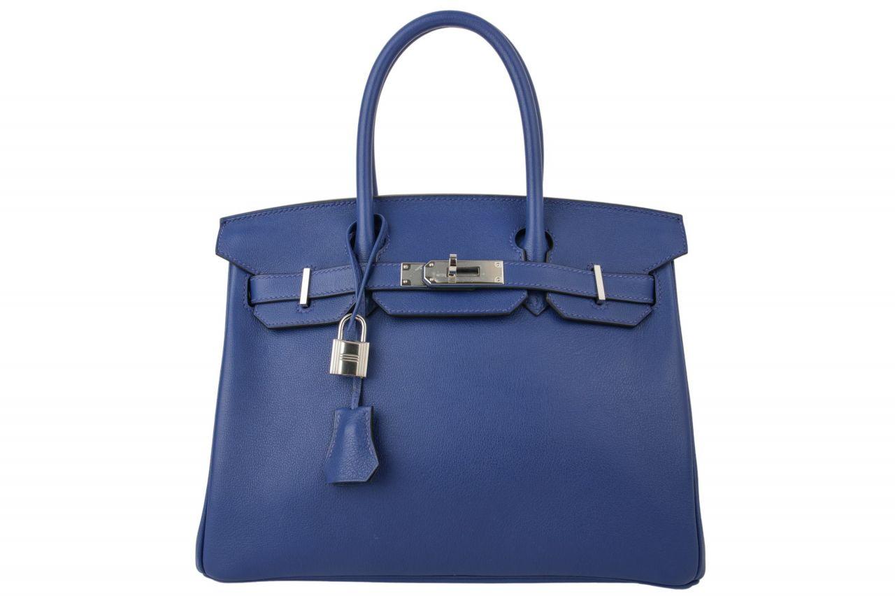 Hermès Birkin Bag 30 Taurillon Novillo Bleu Electrique