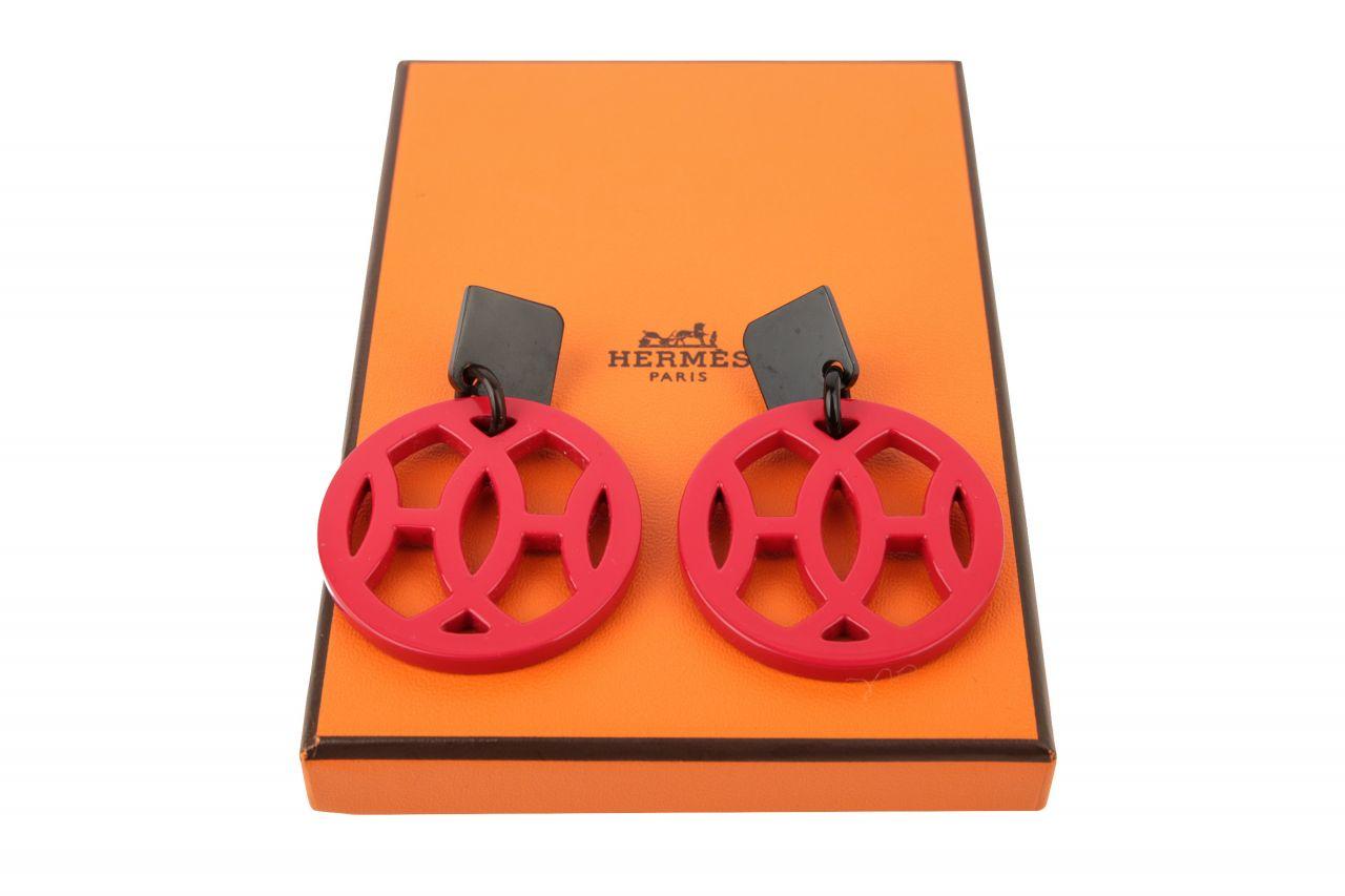 Hermès Hava Ohrringe Rot