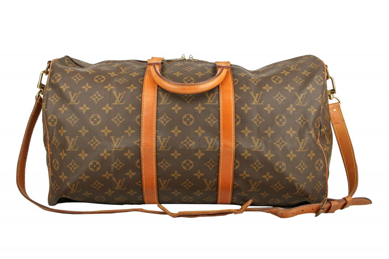 Louis Vuitton Keepall 50 Monogram Canvas mit Schulterriemen
