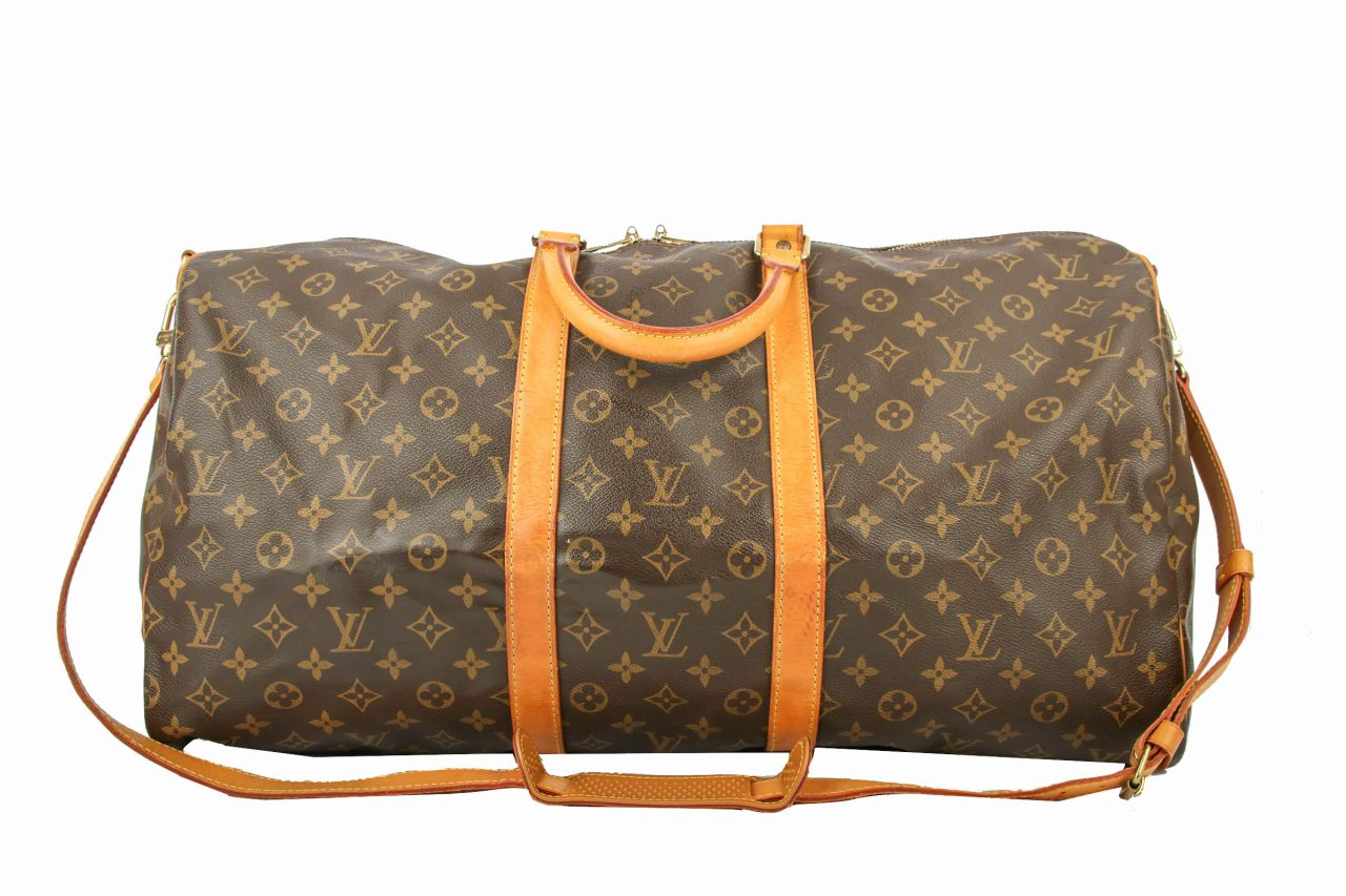 Louis Vuitton Keepall 55 Monogram Canvas mit Tragriemen