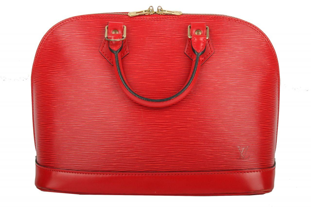 Louis Vuitton Alma PM Epi Leder Rot