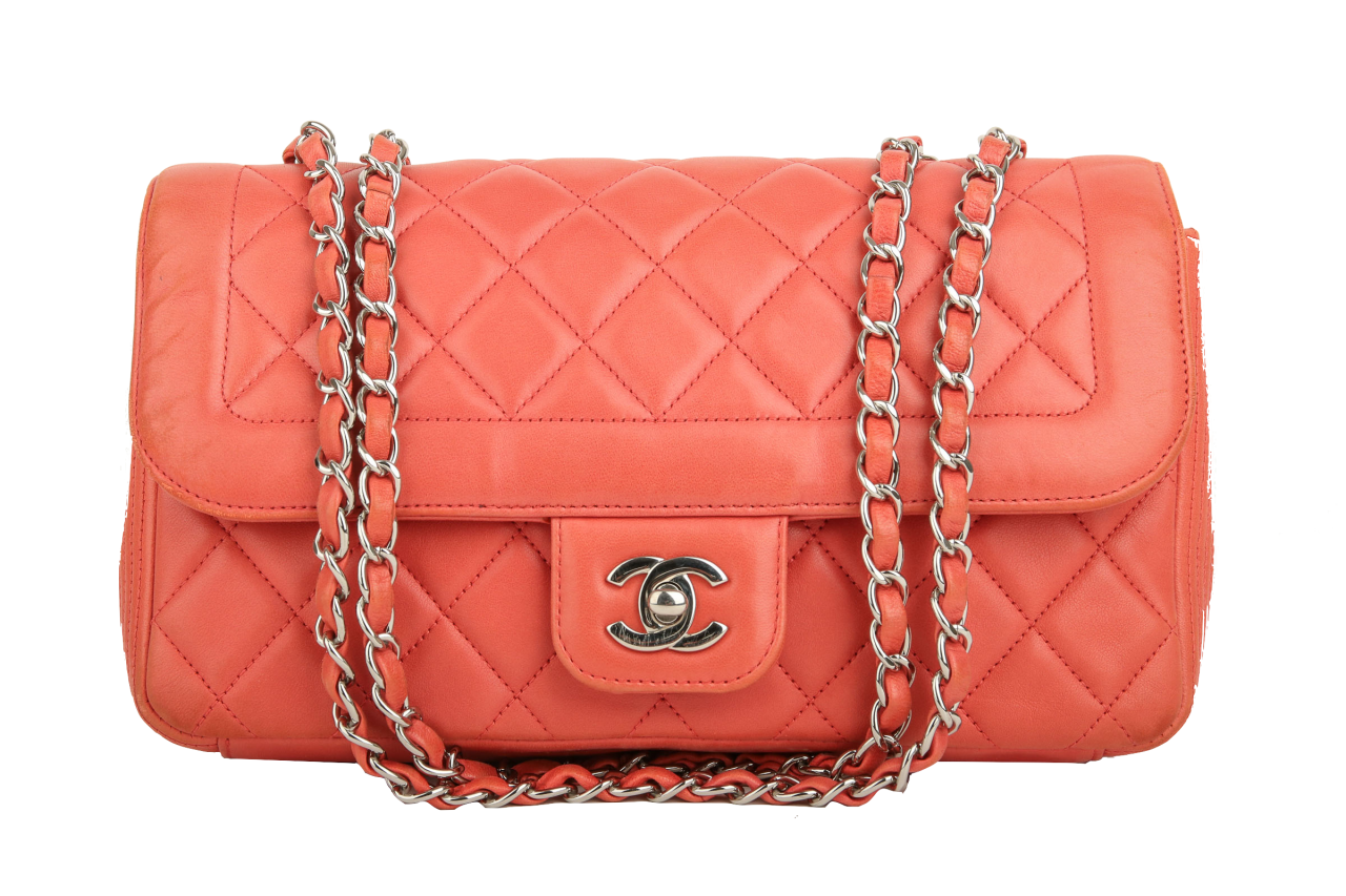 Chanel Timeless Medium Flap Bag Korall