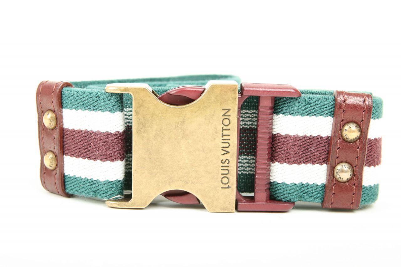 Louis Vuitton Hüftgürtel Grün-Weiß-Braun