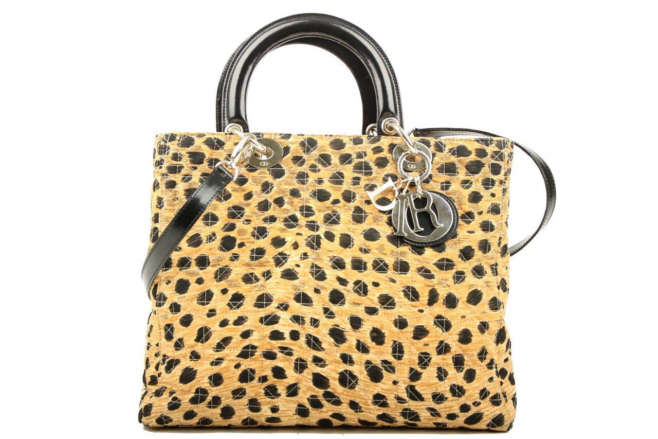 Dior Lady Dior Leopard Canvas