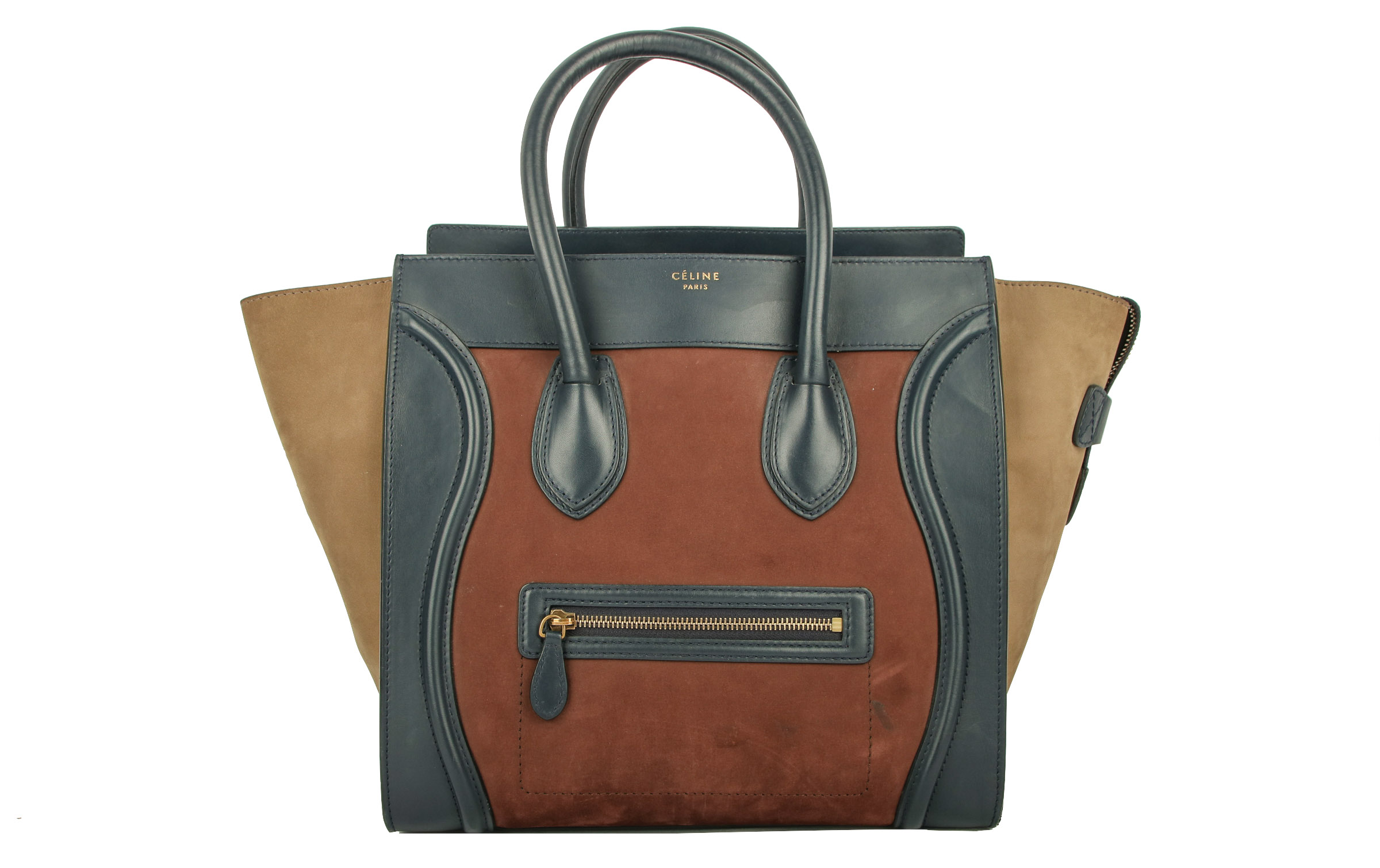 0489b4da9bf86 Céline Mini Lugage Brown   Red   Blue