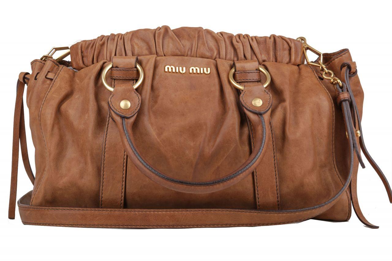 Miu Miu Top Handle Bag Brown