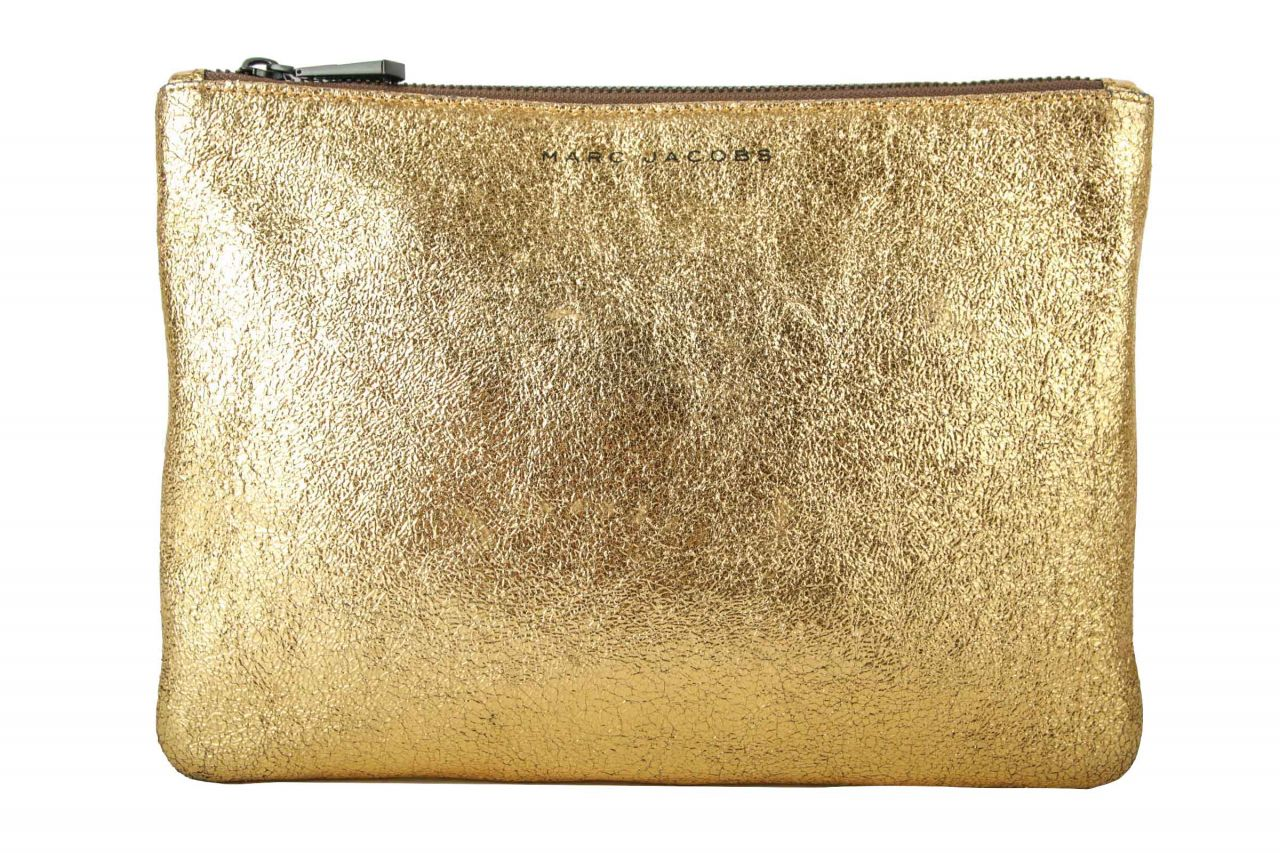 Marc Jacobs Metallic Leather Pouch