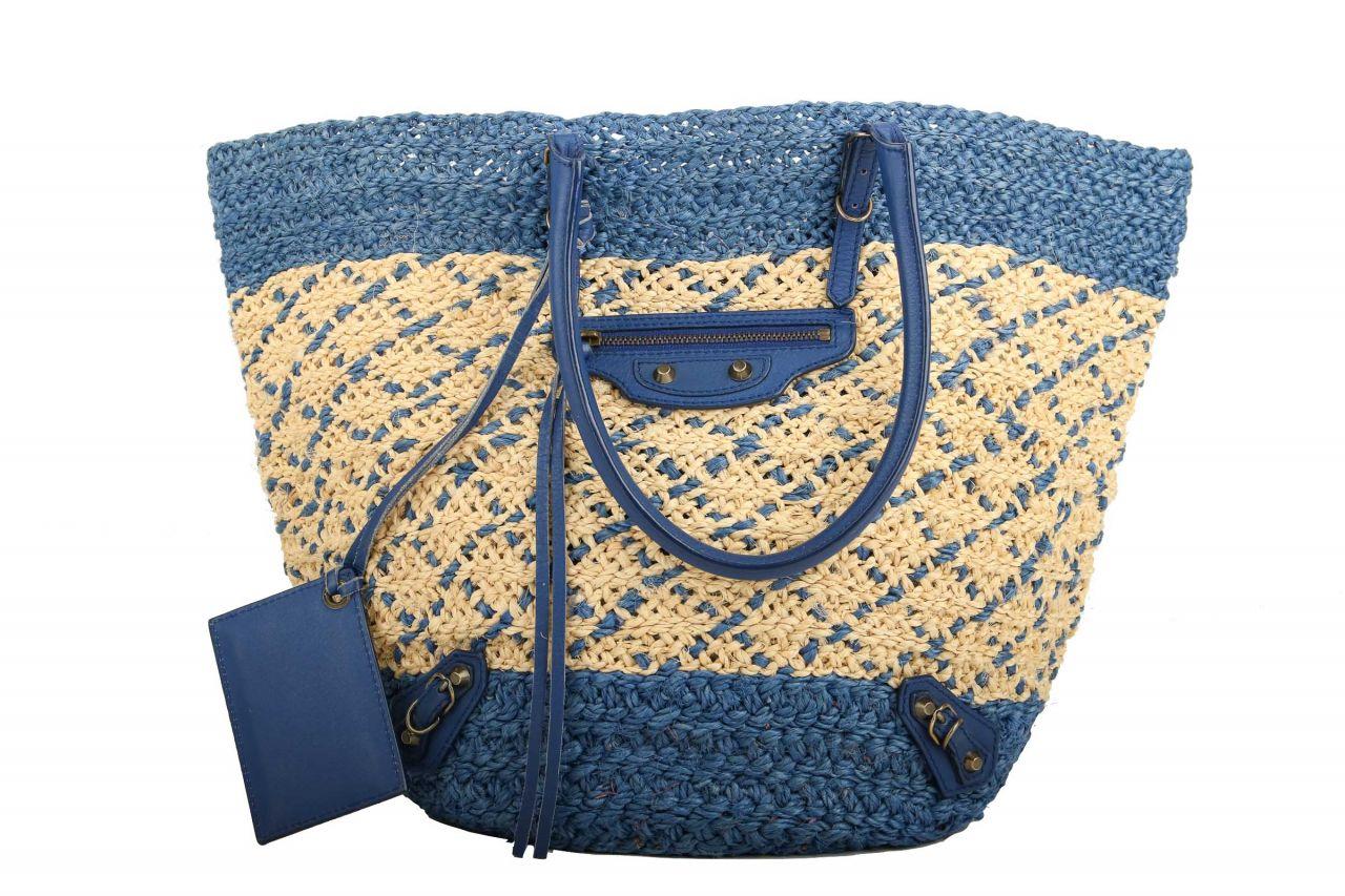 Balenciaga Klassik Korbtasche Blau