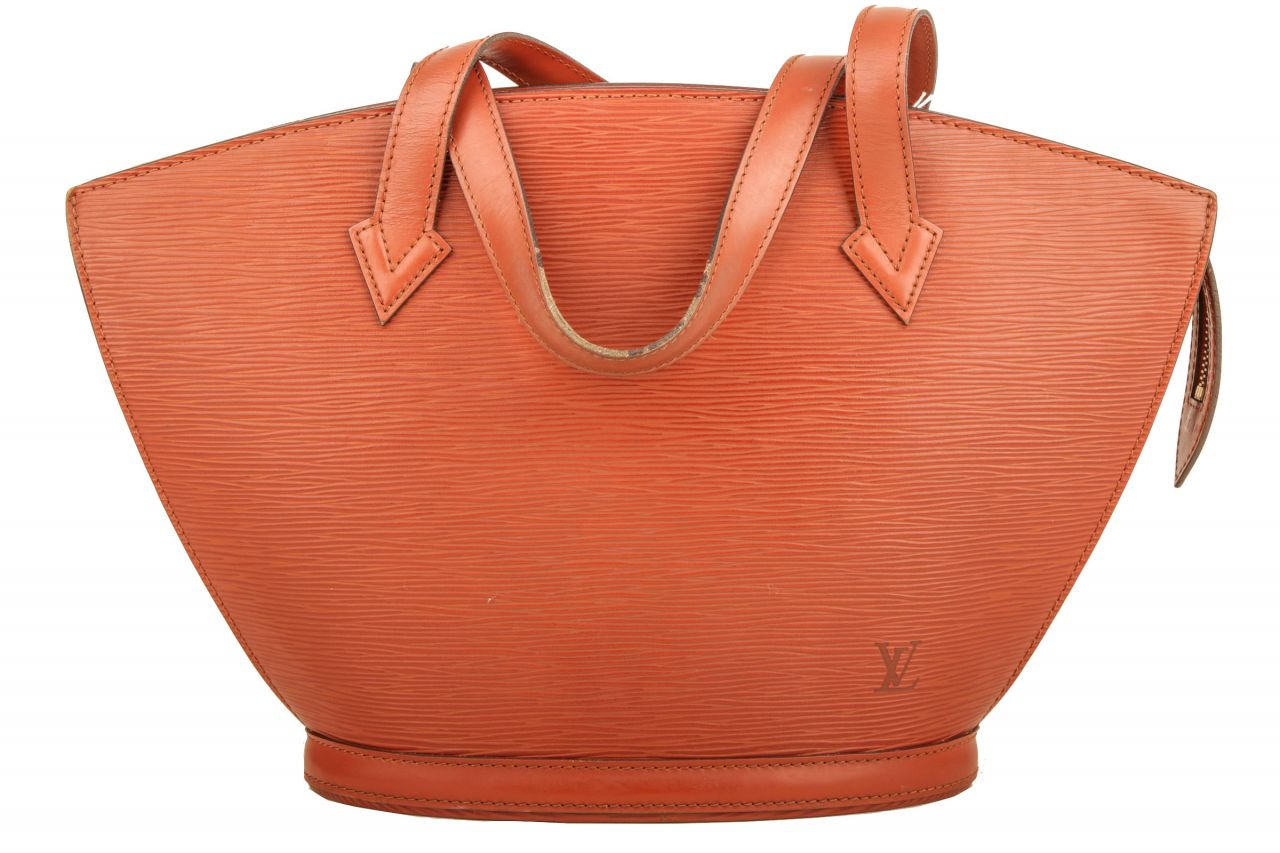 Louis Vuitton Saint Jacques Epi Leder Braun