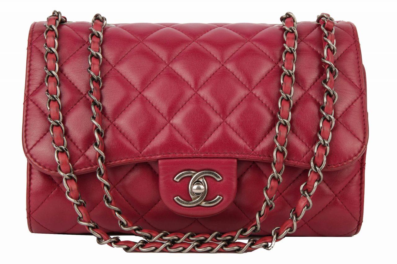 Chanel Handtasche/ Shopper Dunkelrot