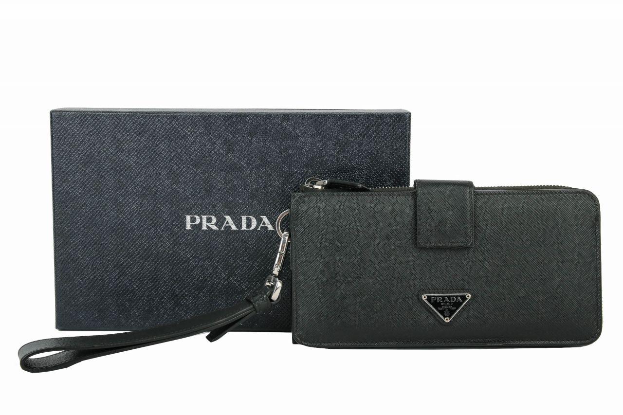 Prada Portemonnaie in schwarz