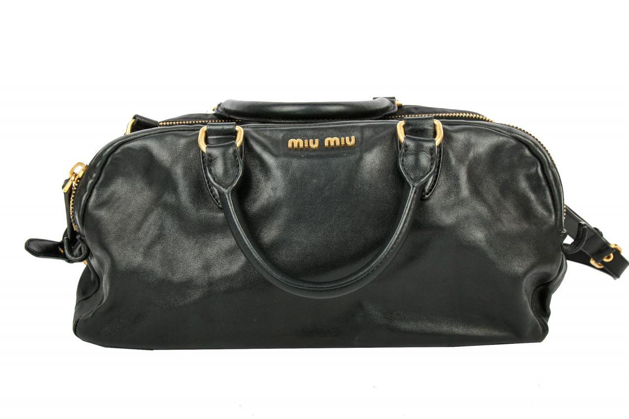 Miu Miu Crossbody Handtasche schwarz