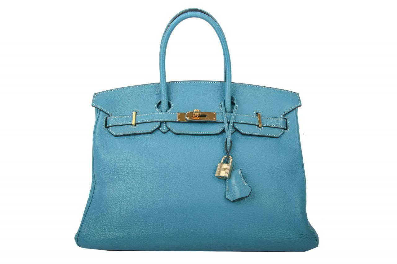 Hermès Birkin Bag 35 Blue Jean Clemence