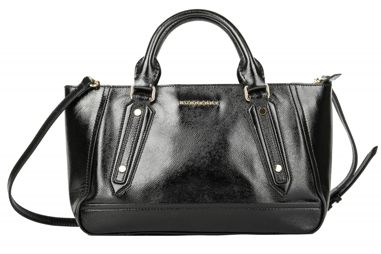 Burberry Handtasche Schwarz Lack