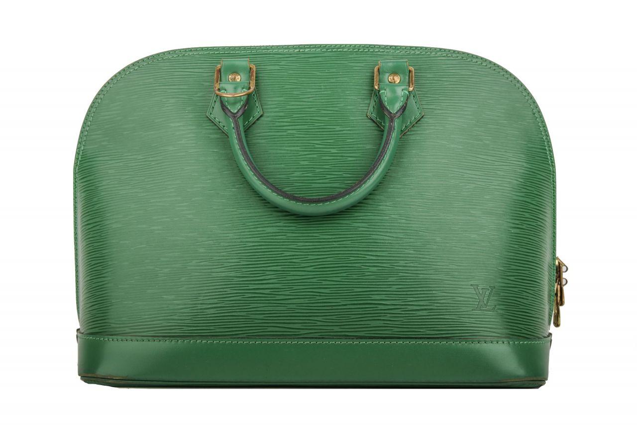 Louis Vuitton Alma Epi Leder Grün