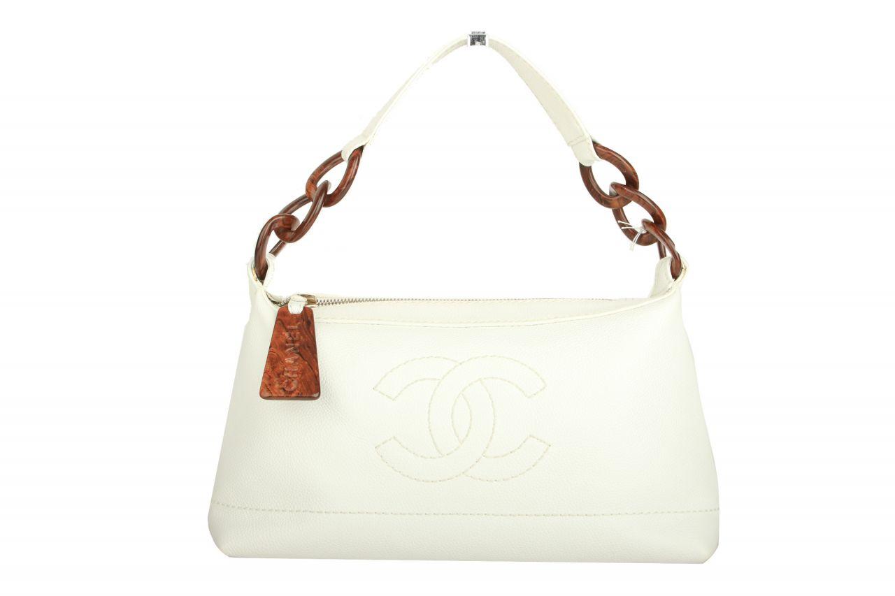 Chanel Tasche Kaviar Leder Weiß