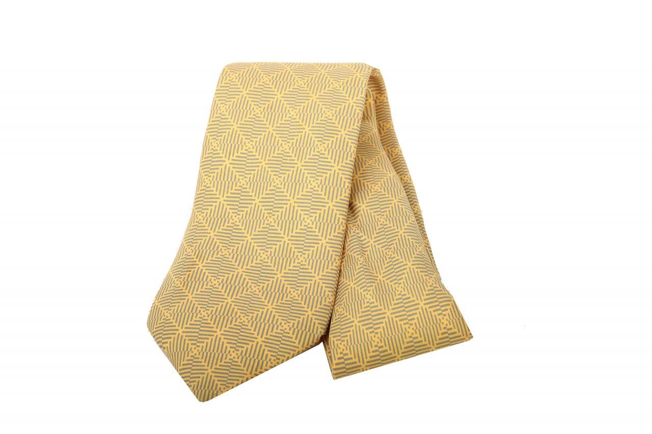 Hermès Krawatte Geometrisch Gelb
