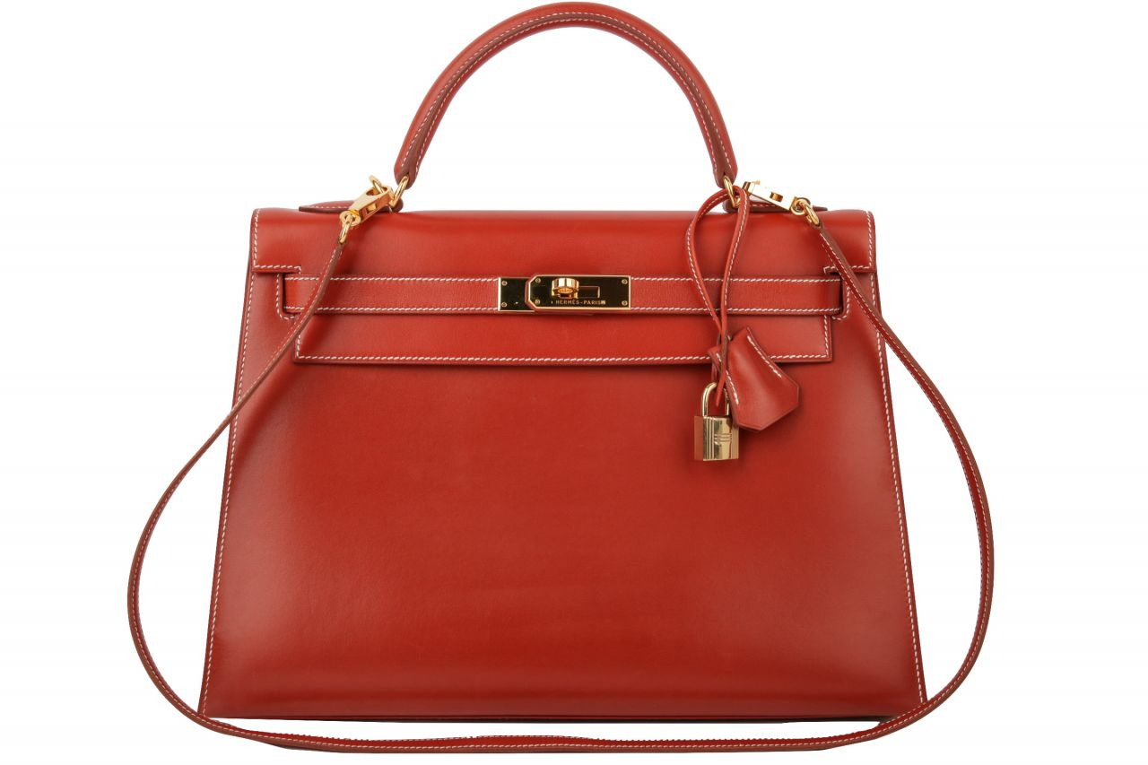 Hermès Kelly 32 Sellier Brique Tadelakt