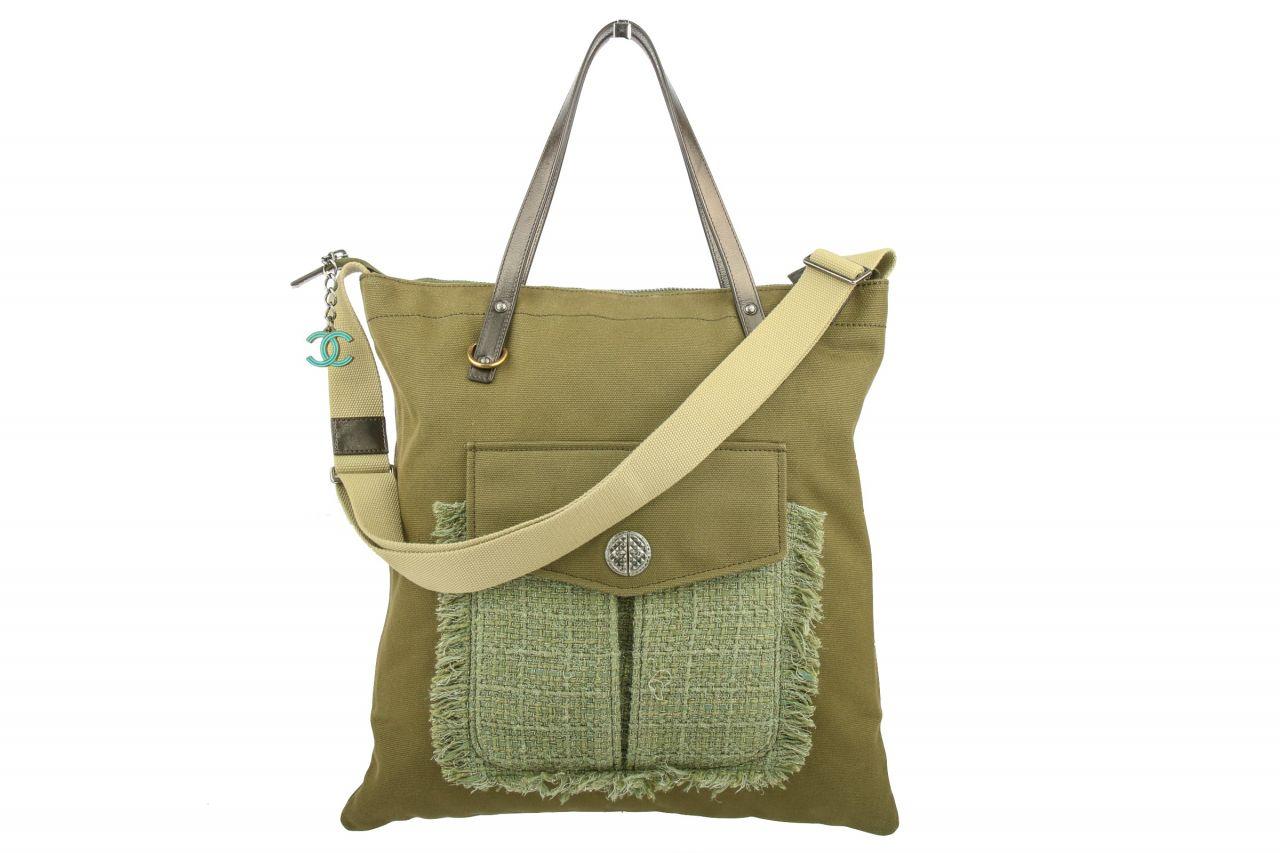 Chanel Shopping Bag Khaki