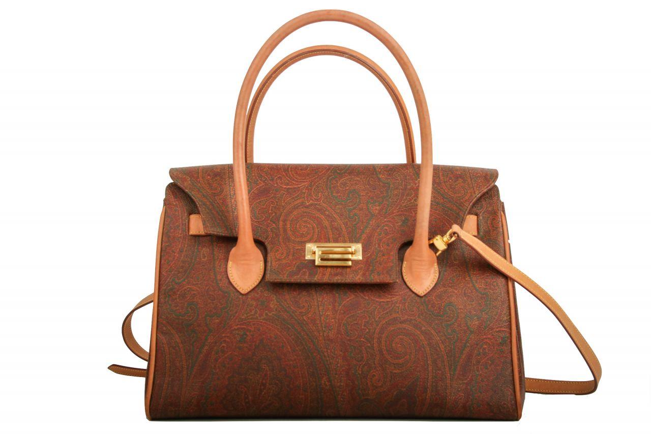 Etro Handtasche Paisley Braun