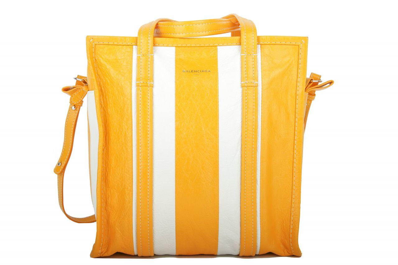 Balenciaga Bazar Shopper Stripe Yellow White