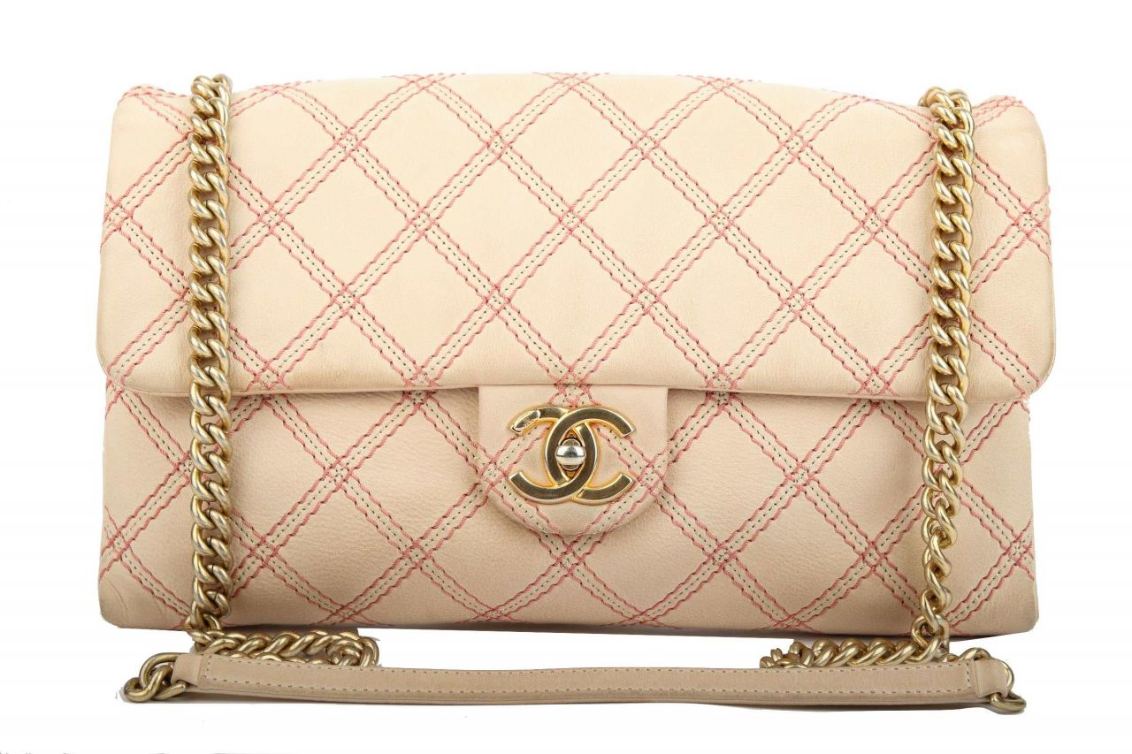 Chanel Iridescent Flap Bag Pink