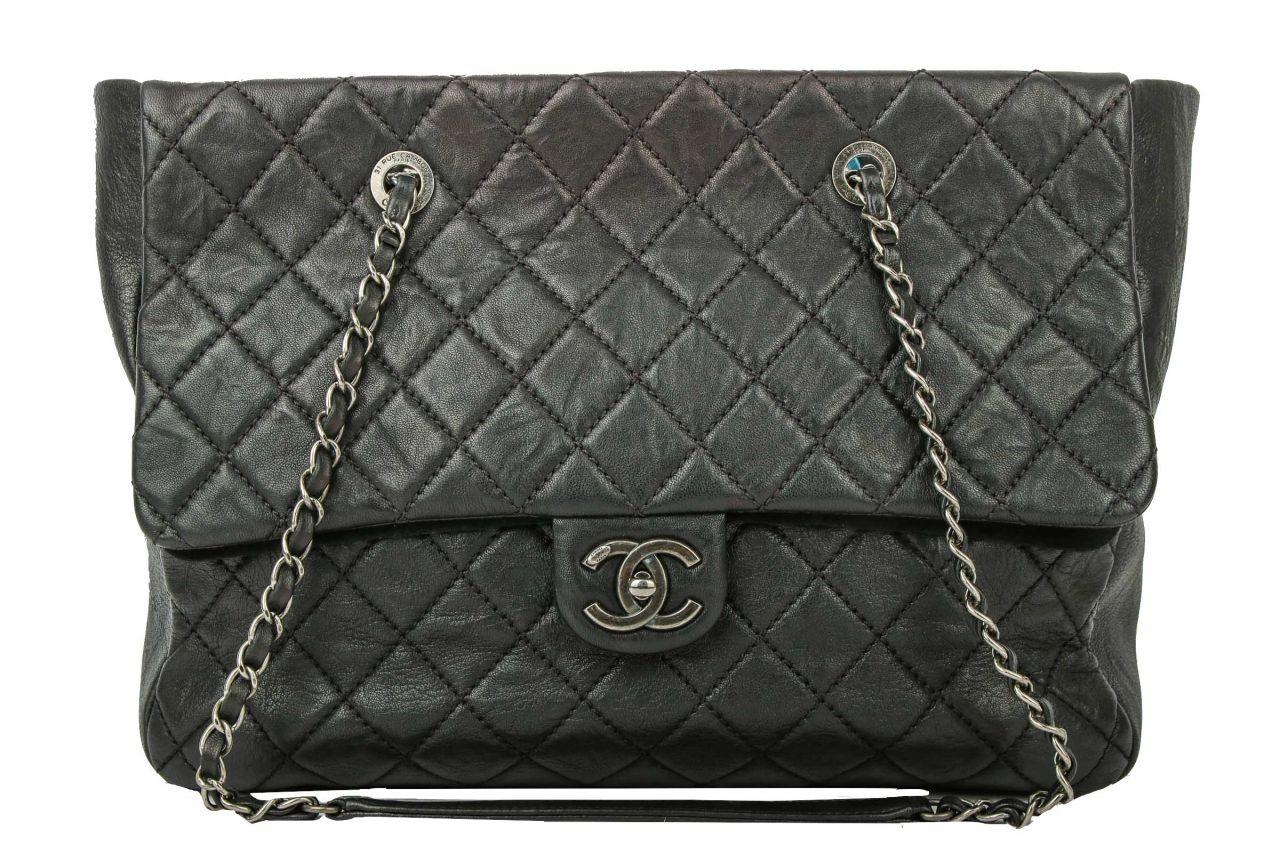Chanel Single Flap Bag Schwarz