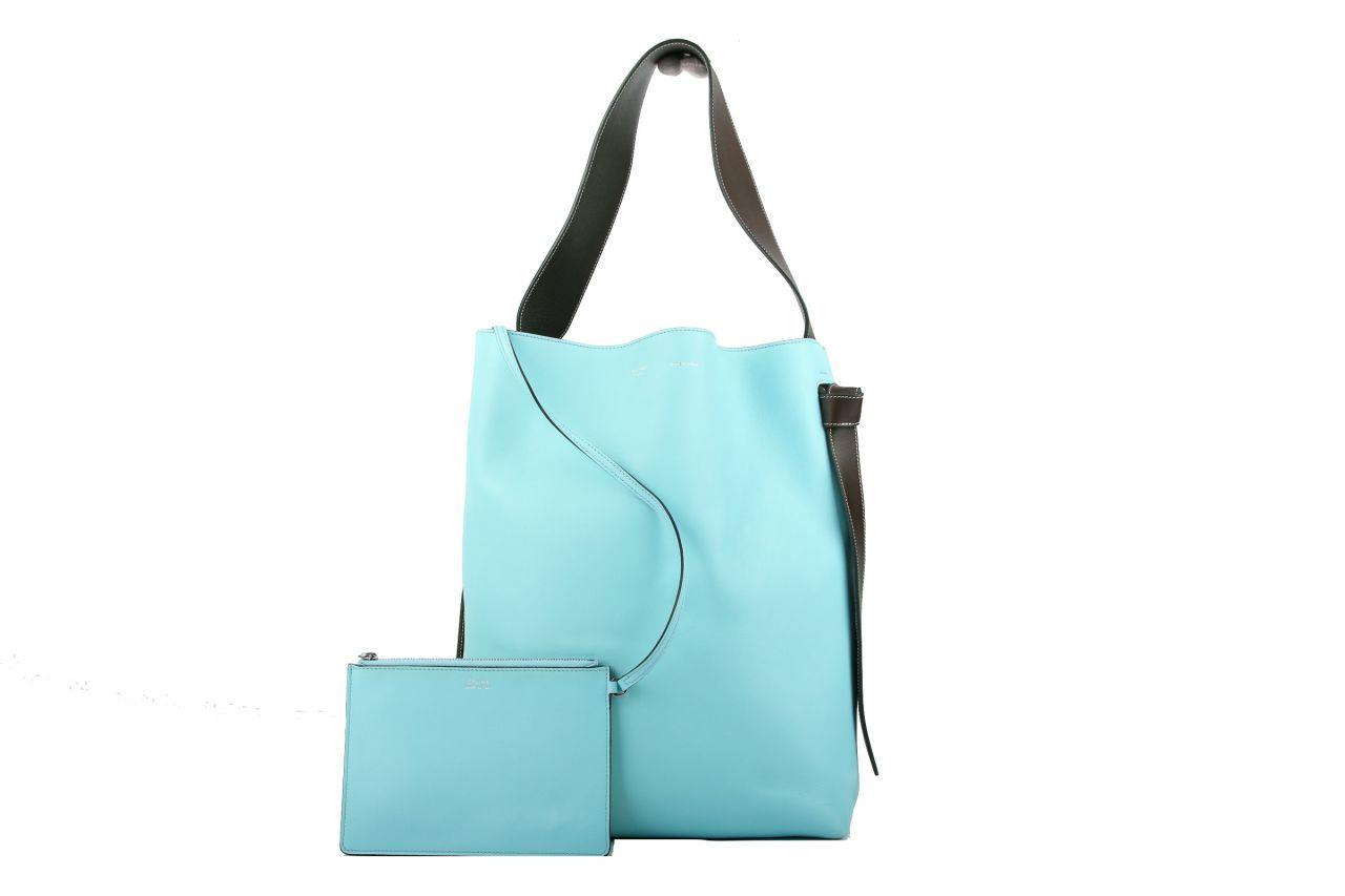 Céline Vertical Cabas Tote Bicolor Gelb / Blau